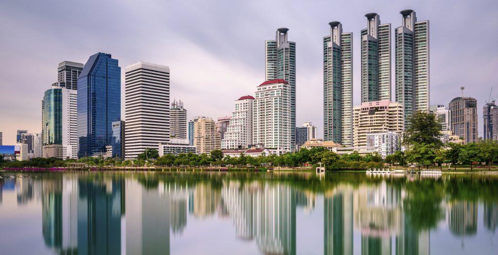 Bangkok, Thailand - Benjakiti Park.